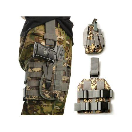 Camouflage Panel Pouch outdoor tactical molle drop leg platform panel w holster