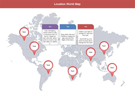 Power Office Locations by Customizable World Map Presentation Templates With