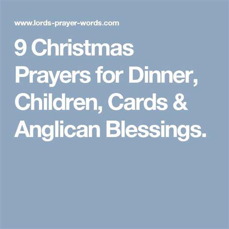 christmas prayers  dinner children cards anglican blessings sunday school