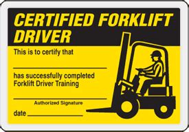 How To Get Forklift License Equipments Zone Forklift Card Template