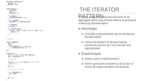 pattern iterator javascript js design patterns reactive programming