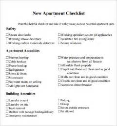 sle new apartment checklist 4 documents in pdf