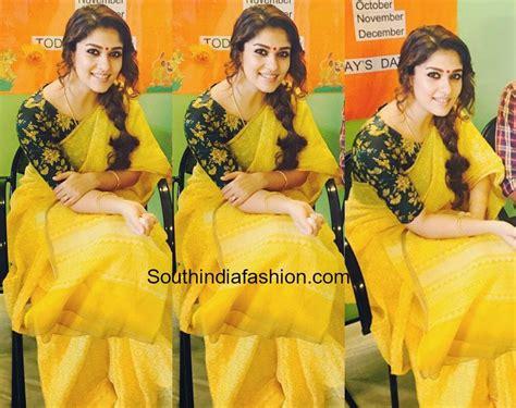 nayanthara boat neck blouse designs nayanthara s simple yet striking saree look south india