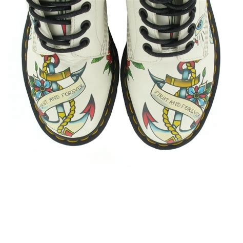 tattoo aftercare boots dr martens louie womens leather tattoo print 8 eyelet