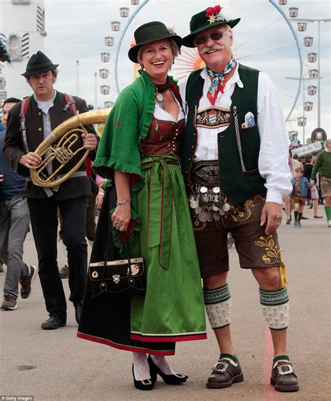 german traditional festivals lederhosen low cut blouses and gallons of six