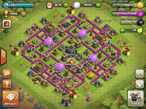 coc layout superman defence base clash of clans pinterest