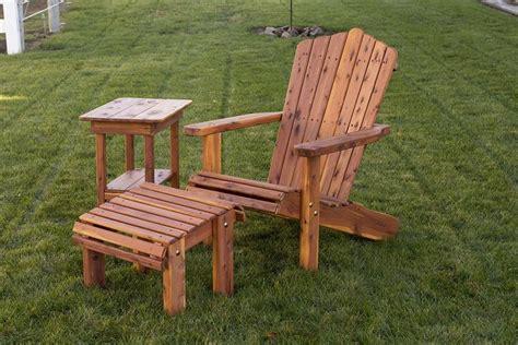 amish  adirondack chair  optional ottoman