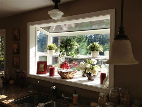 Flower Decor In Window Kitchen Green House Windows For Kitchen For Fresh And