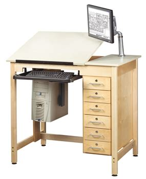 Cad Drafting Table Shain Split Top School Cad Drawing Computer Table W Drawers Cdtc 71 Cad Drawing Tables