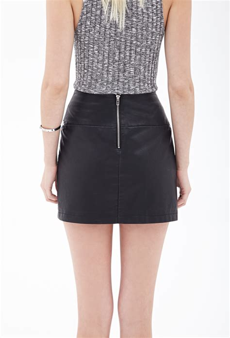 forever 21 faux leather mini skirt you ve been added to