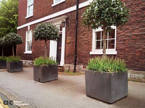 Concrete Commercial Planters by Commercial Planters In A Town Setting Award Winning