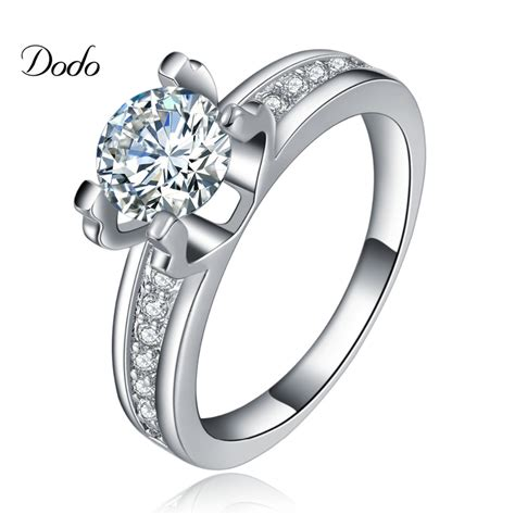 Wedding Ring Cz by White Gold Cz Wedding Rings Navokal