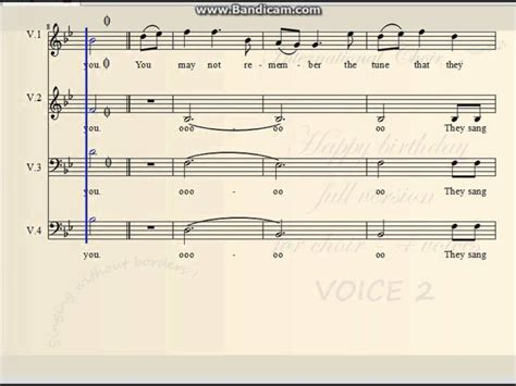sections of a choir happy birthday full version for choir 4 voices choral