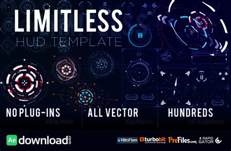 after effects templates free no plugins limitless hud template videohive project free download