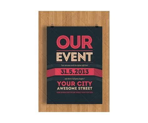 event poster template event flyer template psd clean minimal and modern theme