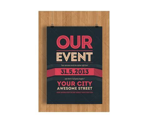 event flyer template psd clean minimal  modern theme