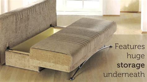 Chesapeake Beige Sleeper Sofa Sleeper Benja Three Seat Sofa Sleeper With Storage In Light Brown