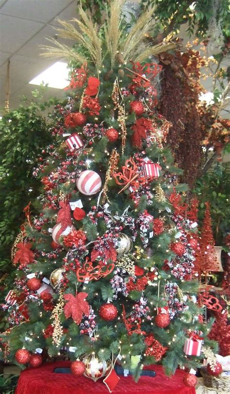 ana silk flowers ideas christmas tree decorating