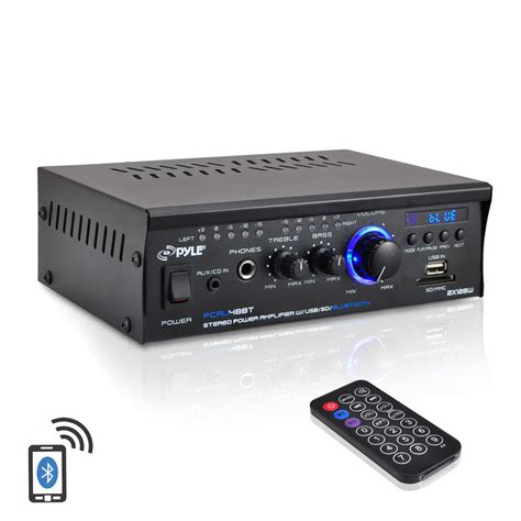 Power Lifier new pyle pcau48bt 2 x 120w bluetooth stereo power lifier usb sd aux remote ebay