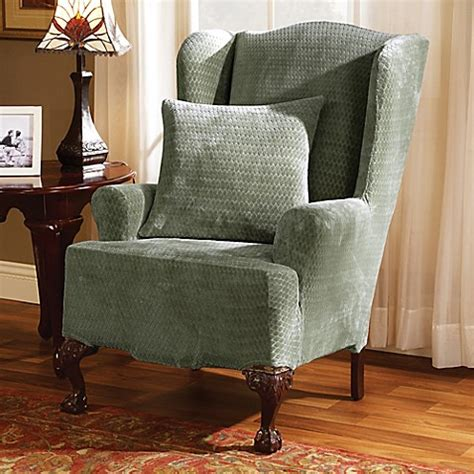 sure fit royal sofa slipcover sure fit 174 stretch royal wingback chair slipcover