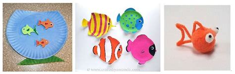 paper craft fish paper plate fish bowl craft images