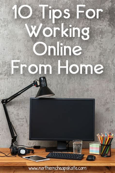 Online Working From Home - 10 tips for working online from home