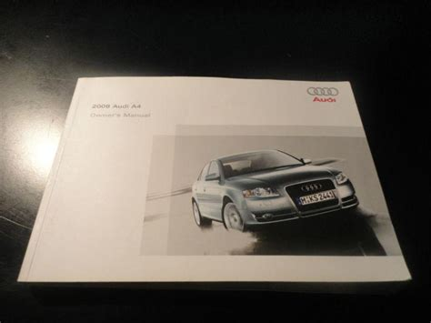 sell 2008 audi a4 owners manual motorcycle in the great