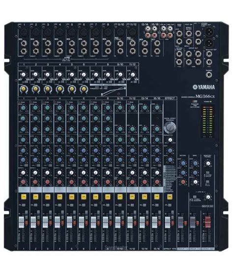 Yamaha Mg166cx 16 Channel Mixer Yamaha Mg166cx 16 Channel 6 Live Mixer W Digital Effects Channel Eq Buy Yamaha