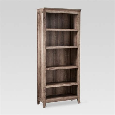 carson 5 shelf bookcase rustic threshold target