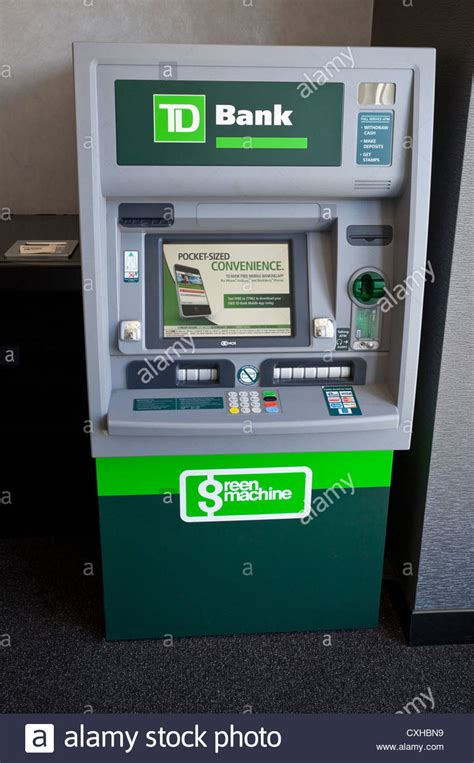 bank atm machine atm machine td bank miami florida usa stock photo