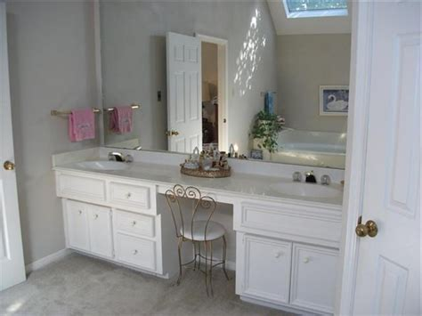 bathrooms in usa double vanity with makeup table shelby knox