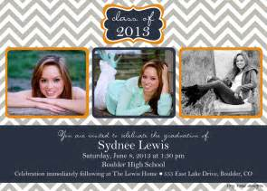 chevron block graduation announcement graduation invitation