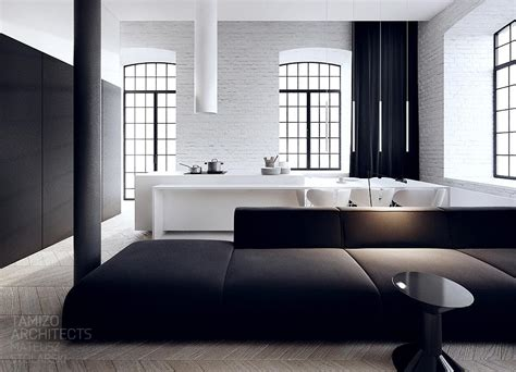 interior design in black white