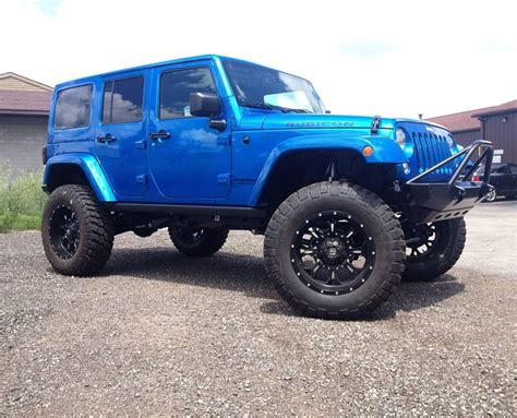 blue jeep rubicon custom hydro blue jeep wrangler rubicon built by venom
