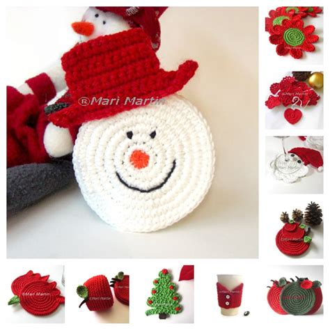 thinking of christmas crochet coasters snowman crochet