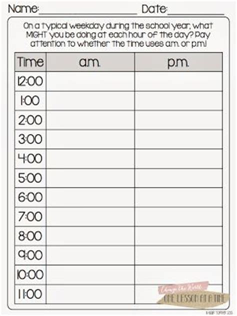 Am And Pm Worksheets by 17 Best Images About Telling Time On Anchor