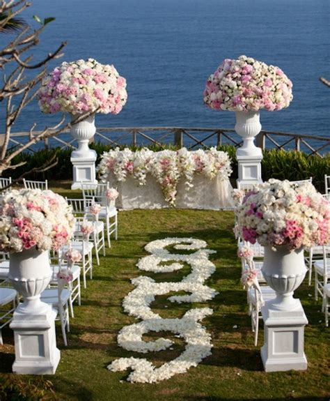 wedding ceremony flower garden aisle decorations archives weddings romantique