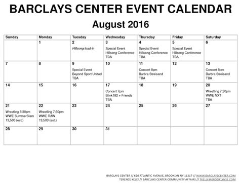 Barclays Center Calendar Barclays Center Belatedly Releases May 2016 Event Calendar
