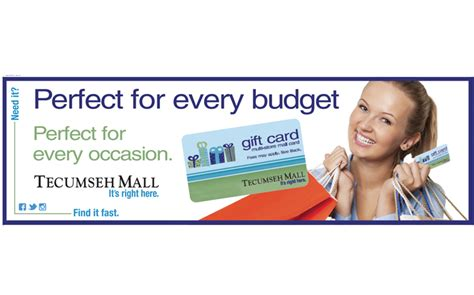 Gift Card Ads - tecumseh mall rink board gift card graphic design 750 215 468