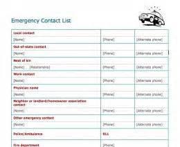 Emergency Call List Template Pin Printable Emergency Contact List Template On Pinterest