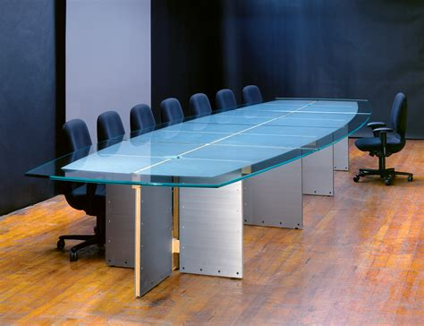 Glass Meeting Table Large Glass Top Conference Tables Custom Glass Conference Tables Stoneline Designs