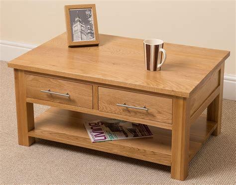 oslo solid oak coffee table 2 drawer bedroom furniture
