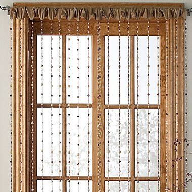 Beaded Window Curtains Serena Beaded Window Panel Jcpenney Beaded Curtains