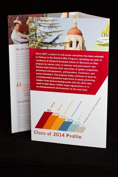 Stanford Mba Brochure stanford msx brochure on behance