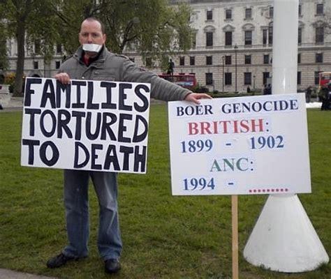 boer genocide stop boer genocide boer genocide stop boer genocide protest uk boer