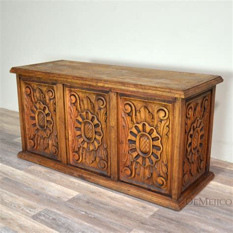carved desk concha carved colonial desk demejico