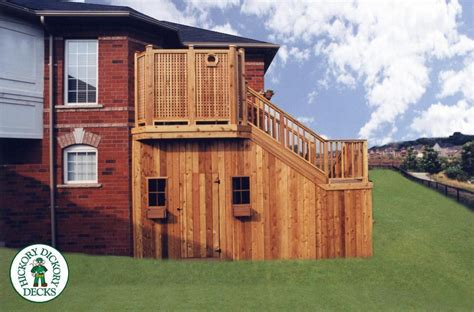 Two Level Storage Shed by This Is A Two Level Deck With A Storage Shed The Top