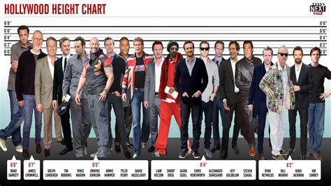 hollywood celebrities real height hollywood height chart our tallest actors mtv