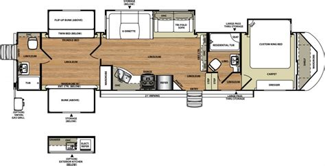 Salem Travel Trailer Floor Plans by Bunkhouse Travel Trailer Floor Plans