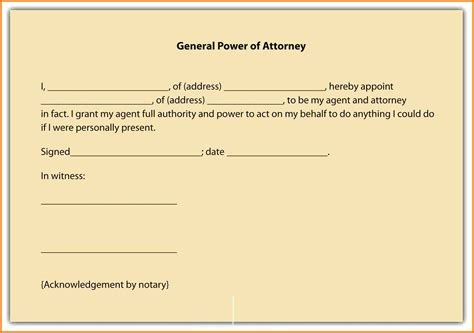 11 free exle of power of attorney letter ledger paper